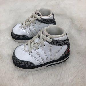 Jordan White Baby High Top Sneakers